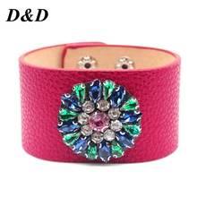 D & d кожаный браслет стразы ювелирные изделия ручная цепочка