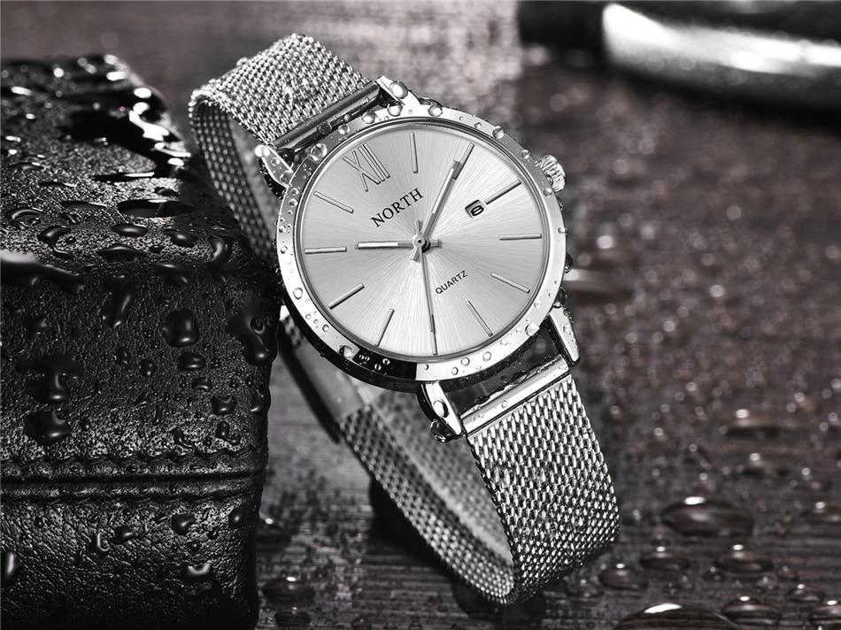de luxo relógio de quartzo moda feminina