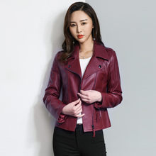 Jacket Leather Genuine 2020 Spring Autumn Jacket Women 100% Real Sheepskin Coat Female Streetwear Bomber Jackets MY3901 s(China)
