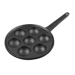 Nonstick Stuffed Pancake Pan,House Cast Iron Griddle for Various Spherical Food,2Diameter Molds