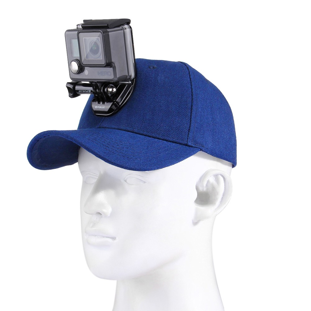 Pour Go Pro accessoires toile casquette de Baseball avec j-crochet boucle vis de montage pour GoPro HERO 7/6/5/4 Xiaoyi DJI OSMO caméra d'action