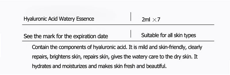 ROREC Hyaluronic Acid Ampoule Face Serum Shrink Pores Anti-Acne Nicotinamide Whitening Moisturizing Anti-Aging Wrinkle Skin Care