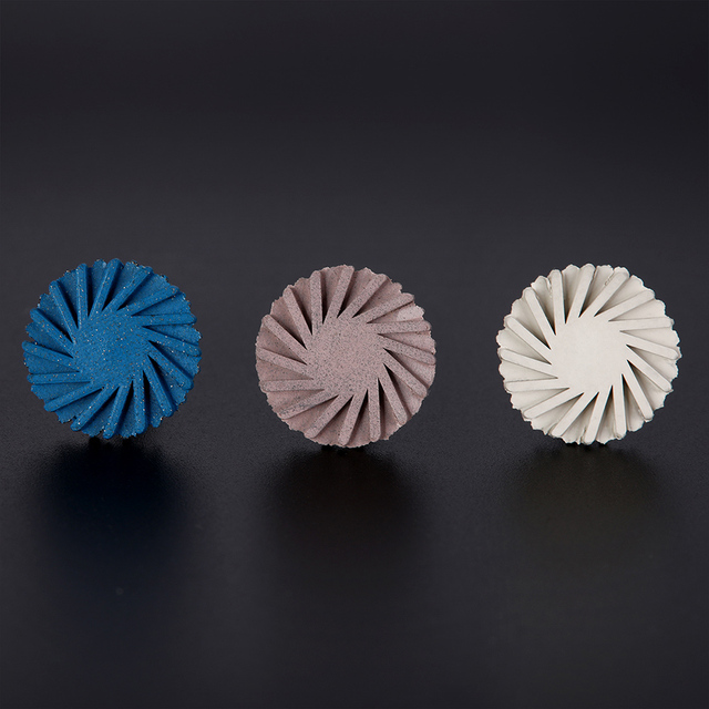 6pcs/set Dental Composite Resin Polishing Disc Kit Spiral Flex Brush Burs Diamond System RA disc 14mm wheel 5