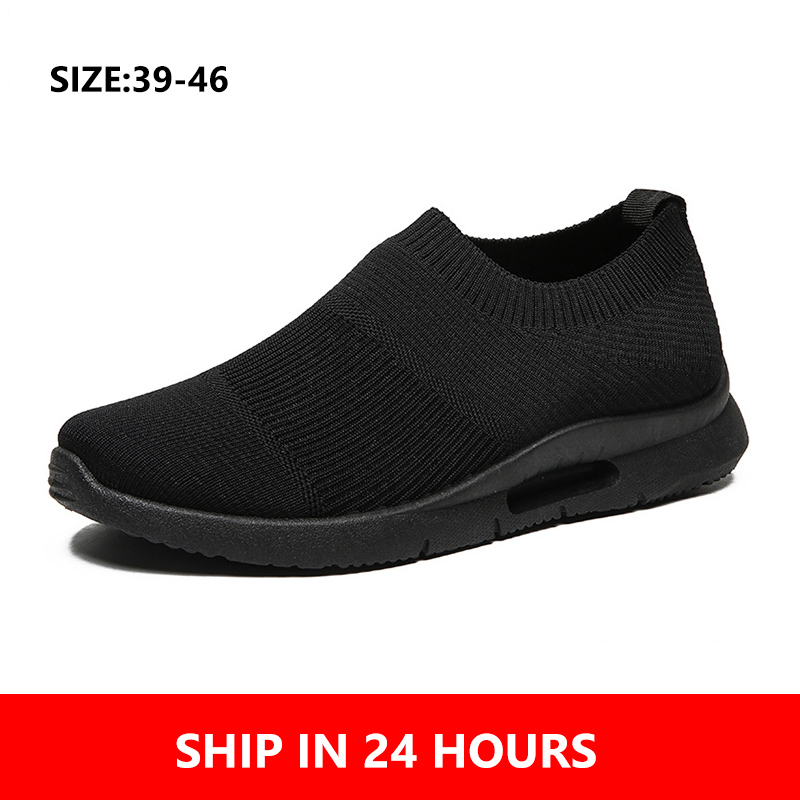 Men Light Running Shoes Jogging Shoes Breathable Man Sneakers Slip On Loafer Shoe Men's Casual Shoes Size 46 DropShipping