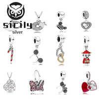 Sizilien Hohe Qualität Original 100% 925 Sterling Silber Pan Perlen Charme Kette Armband für Frauen Mode Luxus DIY Schmuck