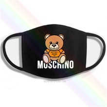 Toy Mouth-Mask MOSCHINO-MILANO Washable Cotton Print This Not-A