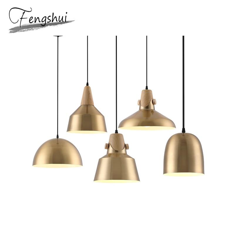 Nordic Iron Pendant Lights Glass Hanging Lamp Simple Pendant Lamp Living Room Bedroom Dining Room Bar Hotel Pendant Lighting