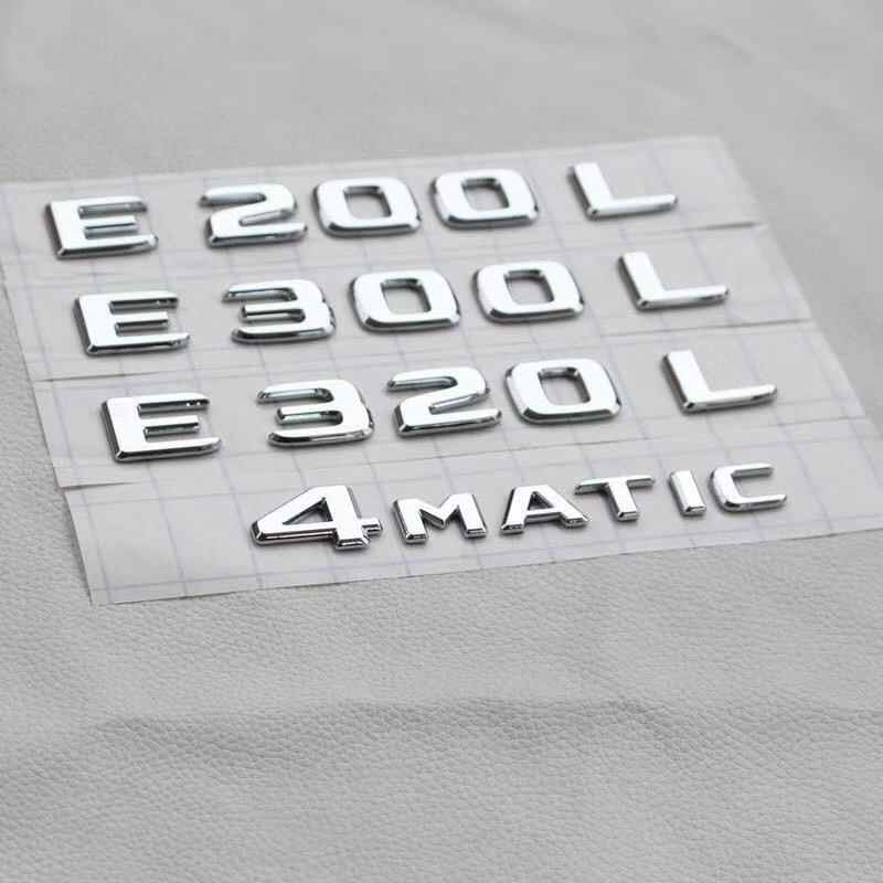 Trunk Rear Emblem Badge Chrome Letters for Mercedes Benz AMG ML300 W211 W212 W213 E CLASS E200 E260 E300 E320 E350 E55 4MATIC
