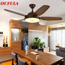 Modern Ceiling Fan Lights Lamps Brown Contemporary Ventilator Remote Control Dining room Bedroom Restaurant Fashional