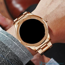 Gold Smart Uhr Männer Männlichen Smartwatch Elektronik Smart Uhr Für Android IOS Fitness Tracker Volle Touch Bluetooth Smart-uhr