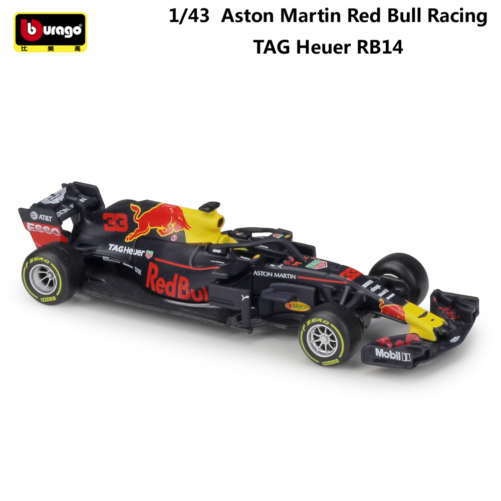 Bburago Diecast 1:43 Car Red Bull Racing F1 Car RB15&14&13 Infiniti Racing Model Alloy Toy Formulaed 1 Car Collection Kid Gift