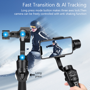 Image 3 - Eksprad 3 Axis Handheld Gimbal Stabilizer Focus Pull Zoom Following the Shooting Mode for iPhone 11 XR XS Samsung Action Camera