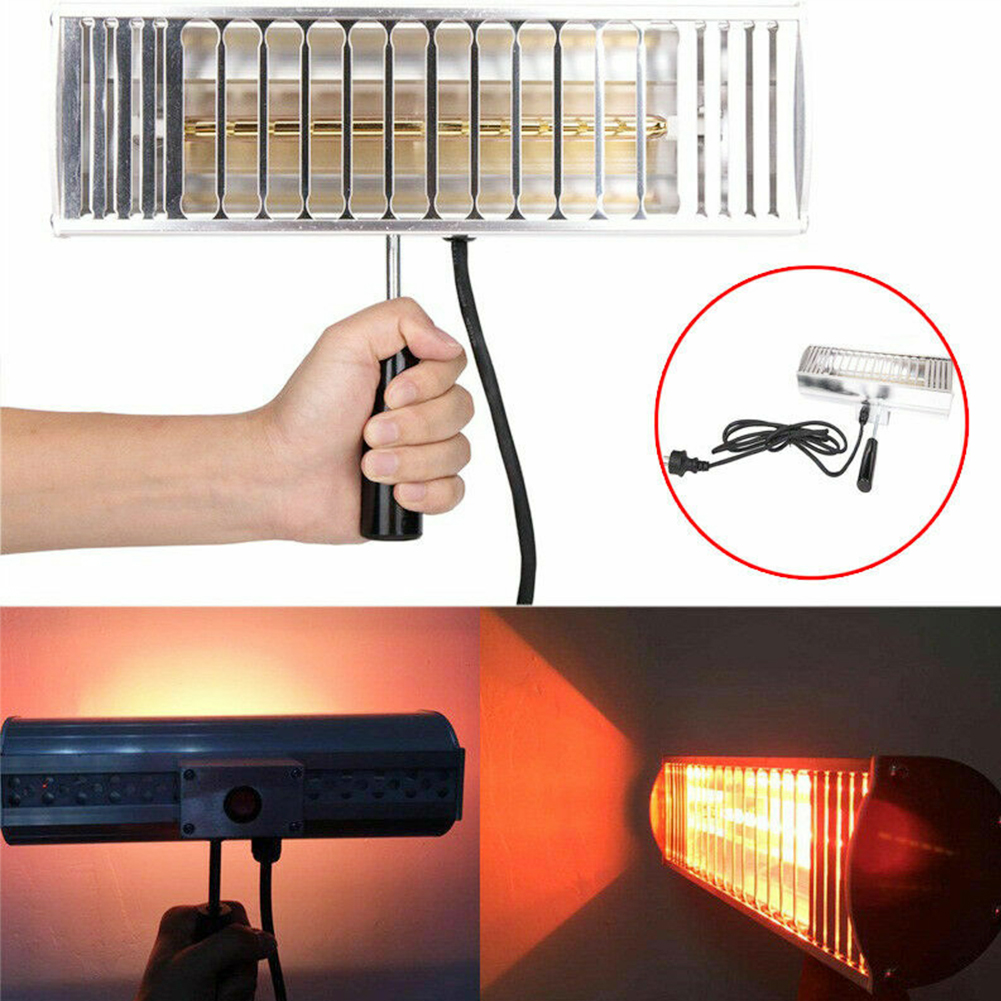 1000W Handheld Filter Car Body Auto Drying Spray Portable Repair Light Wave Baking Infrared Heating Exhaust Paint Curing Lamp