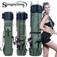 Sougayilang Foldable Canvas Fishing Bag Outdoor Fishing Rod Bag