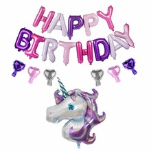 Unicorn Theme Birthday Party Decorations Balloon Decoration Supplies Baby Shower Kids Ballon