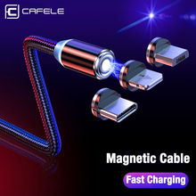 CAFELE LED Magnetic USB Cable Magnet Plug Type C Micro IOS for iPhone Xs Xr X 8 7 6 Plus 5 SE huawei xiaomi samsung