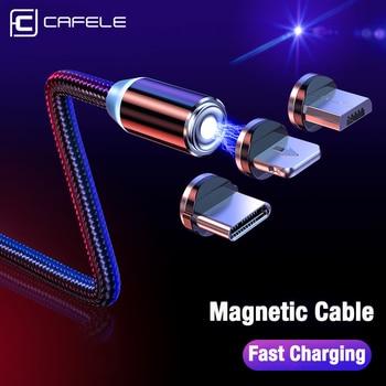 CAFELE LED Magnetic USB Cable Magnet Plug USB Type C Micro USB IOS Plug for