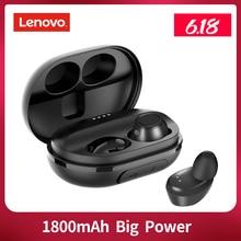 Lenovo S1 TWS IPX5 กันน้ำไร้สายหูฟังบลูทูธไร้สายสเตอริโอเพลงกีฬาหูฟังไร้สายพร้อมไมโครโฟน