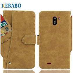На Алиэкспресс купить чехол для смартфона leather wallet haier alpha a4 lite case 5.5дюйм. flip retro luxury front card slots cases cover business magnetic phone bags