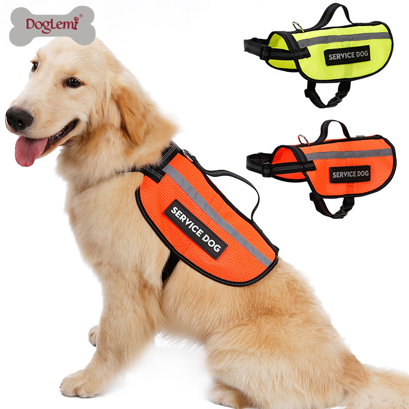 Pet Waistcoat Reflective Safety Clothing Working Dog Chest And Back Clothes German Shepherd Golden Retriever Big Dog Training Ve