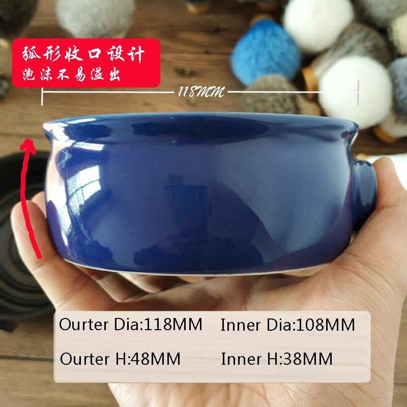 Image 3 - Dscosmetic ceramic blue Mens Shaving Mug Bowl Cup For Shave Brush and shaving soapShaving Brush   -