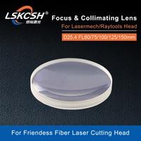 LSKCSH fiber laser focus lens/collimator lens D25.4 F60/75//100/125/150mm Fused Silica Lens for Friendess Laser head 0 2000W|Lenses| |  -