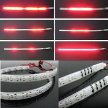 2 pièces rouge 30cm Led chevalier cavalier Flash stroboscope Scanner néon bande lampe étanche SMD LED s ampoule pour usage interne externe