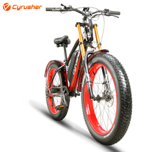 Cyrusher Electric Bicycle 48V 750W 17ah Fat ebike Mountain Electric Bike Motorcycle Style Full Suspension e