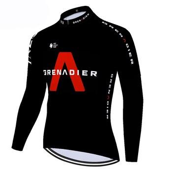 Ineos-maillot de manga larga para ciclismo, térmico y polar para hombre, maillot...