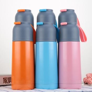 Ɩ�スタイルクリエイティブ絶縁ステンレス鋼ボトル 304 Ɩ�熱ガラス小さな Q Â�ップスポーツボトル 500 Ã�リリットルカスタマイズ可能な