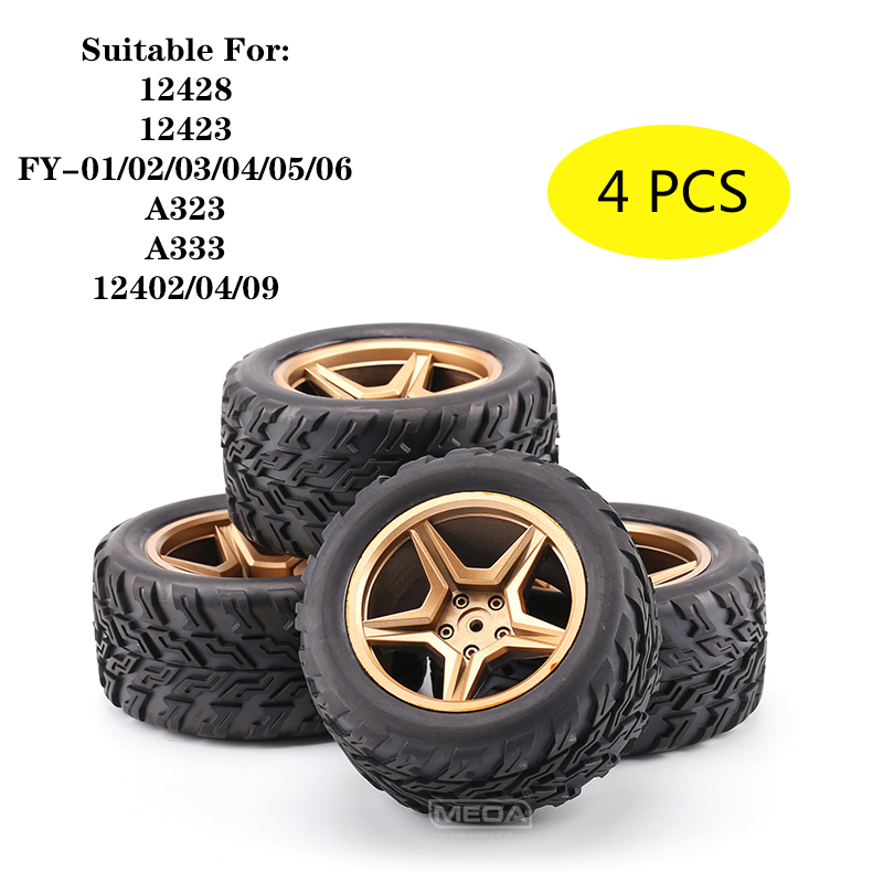 WLtoys 12428 12423 FY-01/02/03 A323 A333 12402 12404 12409 Rc Car Spare Parts A323-01/11 Upgrad Widen Left And Right Tyres Tires