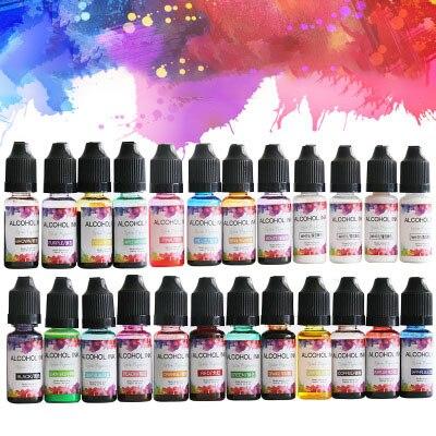24 cores conjunto colorido pigmento de resina de cola epoxy para diy artesanato líquido corante tinta tinta difusão resina jóias fazendo para resina