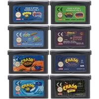 32 Bit Video Game Cartridge Console Card for Nintendo GBA Crash Series English Language Edition