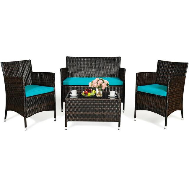 4PCS Rattan Patio Furniture Set 1