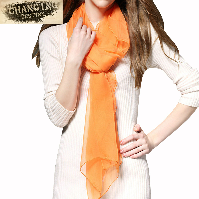 16 Color 190 * 115 CM Lady   Scarf   New Spring and Summer Big Ice Silk Solid Color Women's   Scarves     Wraps