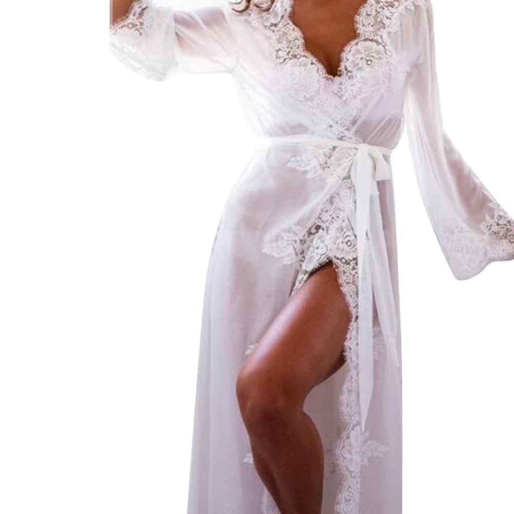 Пижама נשים גלימות סאטן הלבשת פיג סקסי פיג 'מה משי לילה שמלת הכלה חתונה חלוק כתנות לילה חלוק בית