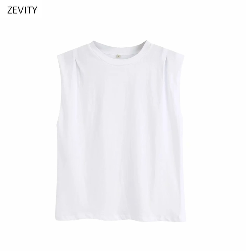 2020 New Women Fashion O Neck Shoulder Pleat Design Casual White T-shirt Female Basic Knitting Leisure T Shirts Chic Tops T662