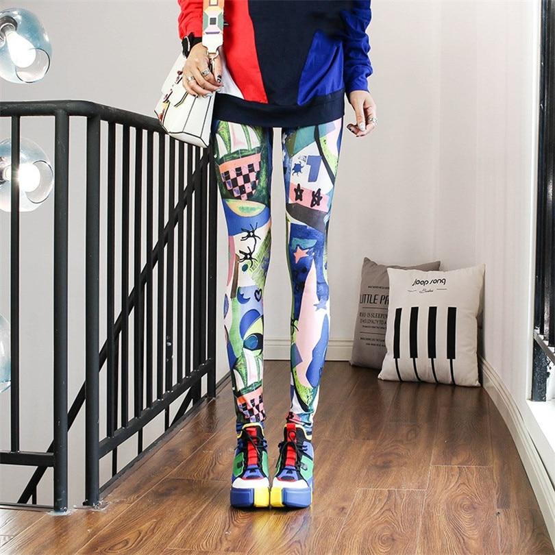 YRRETY Fitness Women Leggings Elasticity Legins Pants For Women Legging Trousers Printed Graffiti Legging Sport Gym Girl Pant