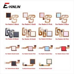 Sensor de impressão digital Conexão Botão Home Para Xiaomi Nota Redmi Nota 4X 5 Toque de Reconhecimento de ID Botão Voltar Ao Menu Cabo Flexível Do Conector