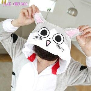 Image 4 - Kigurumi Chi cat onesies Pajamas animal costume Pyjamas Unisex Cartoon character pijama kitchen cat onesies pajamas