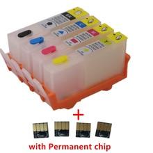 Doldurulabilir mürekkep HP için kartuş 902 903 904 905 HP için çip OfficeJet pro 6950 6951 6954 6956 6960 6970 6961 6964 6975 6976