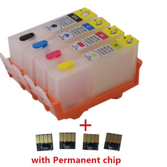 Refillable ink cartridge for HP 902 903 904 905 with chip for HP OfficeJet pro 6950 6951 6954 6956 6960 6970 6961 6964 6975 6976