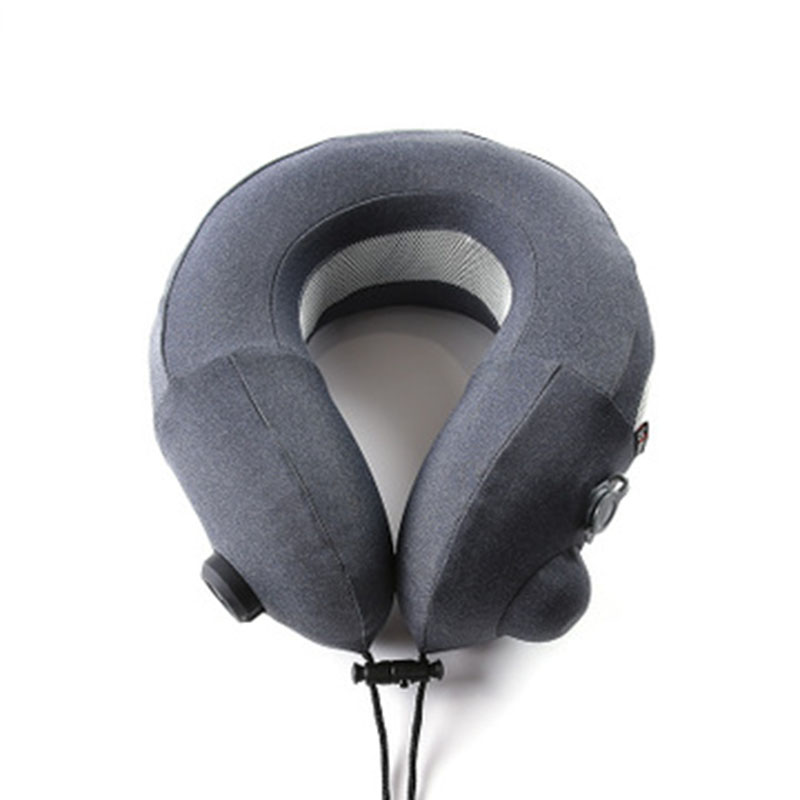 Travel Car Portable Fan Pillow U-Shaped Neck Support Pillow Outdoor Cool Air Plane Pillow Massage Chair