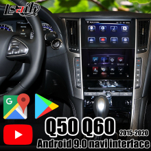 Lsailt Android 9,0 Video Interface unterstützung carpaly/Android auto, YouTube, netflix GPS navigation für Infiniti 2016-20 Q50 Q60