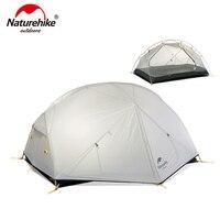 Naturehike mongar 2 barraca de acampamento ultraleve ao ar livre 3 temporada impermeável 20d náilon caminhadas tenda 2 pessoa mochila tenda|Barracas|   -