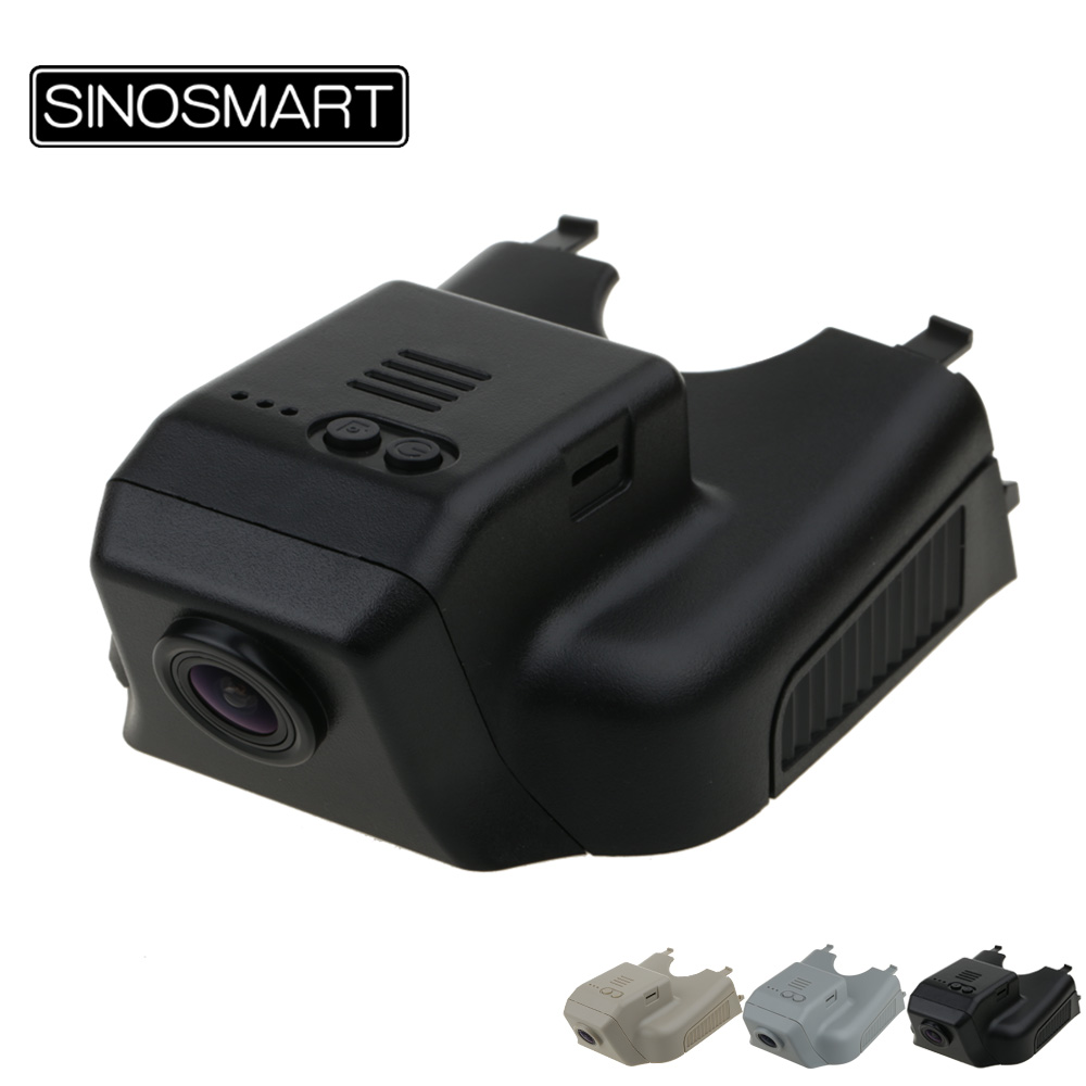 SINOSMART Car Wifi DVR for Mercedes Benz R 2015 ML GL w164 <font><b>x164</b></font> 2006-2012 <font><b>Mb</b></font> GL 2008 2010 Hidden Installation App Control image