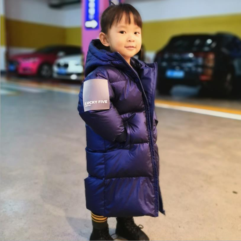 Для детей, Лидер продаж, зимнее Новое пуховое пальто, детская утепленная куртка с капюшоном для мальчиков и девочек; Модные теплые куртки-па...