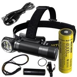 Linterna frontal LED Nitecore HC35 CREE XP-G3 S3 2700LM linterna recargable con tapa trasera magnética por batería 21700