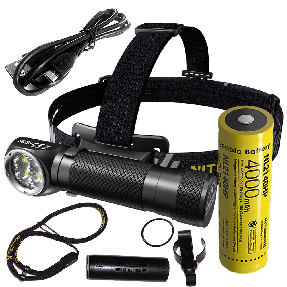 Nitecore HC35 LED Headlamp CREE XP-G3 S3 2700LM Headlight Rechargeable Flashlight with Magnetic Tail Cap by 21700 Battery