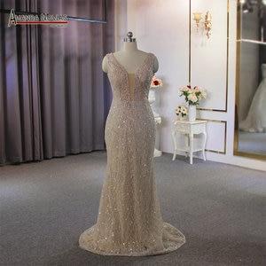 Image 1 - Vestido de novia de estilo playero champán, sexy, transparente